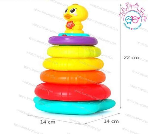 حلقه هوش رنگین کمانی اردک هولی تویز